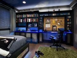 Blue Themed Teenage Boys Bedroom