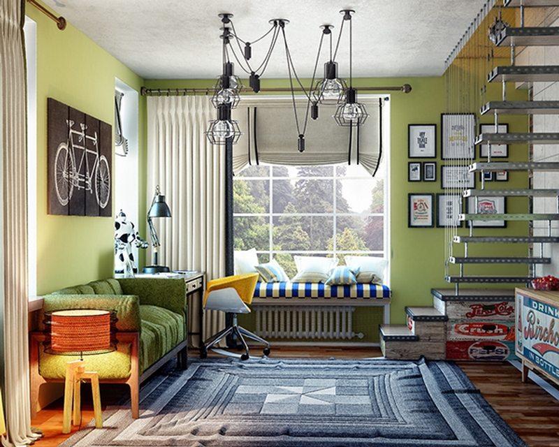 Teen boy's room 2 - by Olga Podgornaja