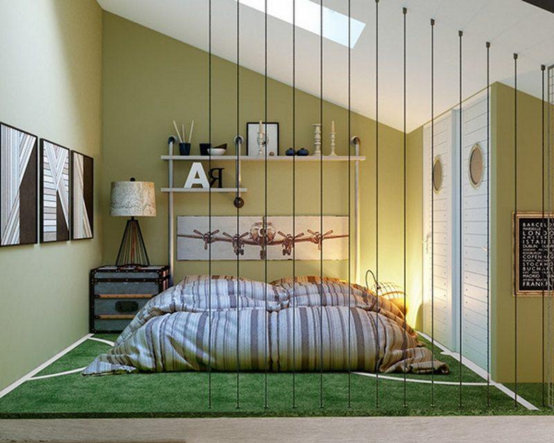 Teen boy's room 5 - by Olga Podgornaja