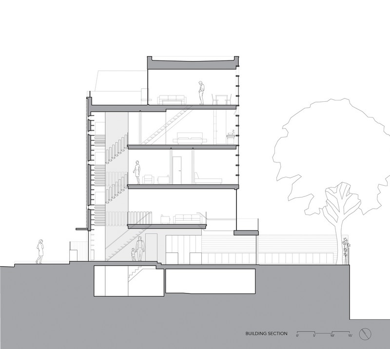 Urban Townhouse - Building Section