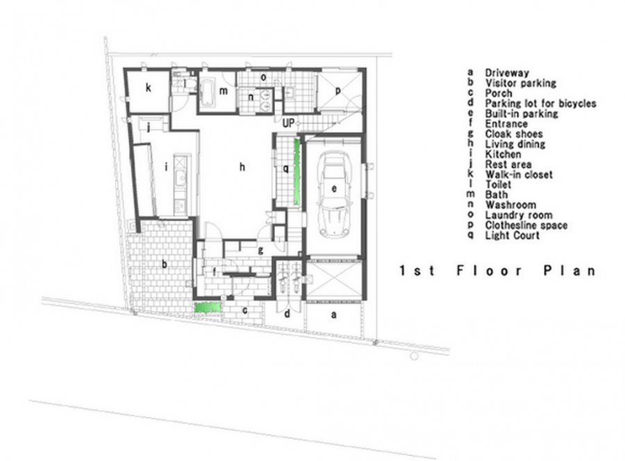 U3 House - First floor plan
