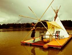 William's Floating Teepee by William Woodbridge -  Teepee, China