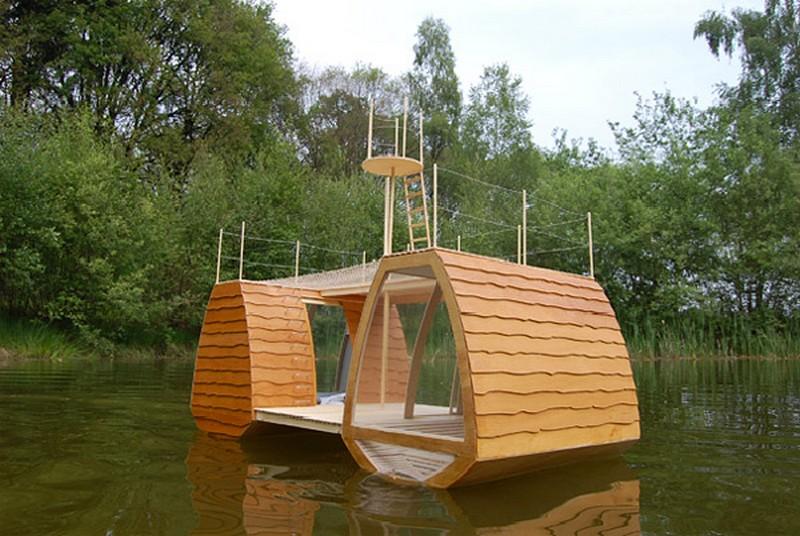Floating homes the owner builder network - Casas de madera por dentro ...
