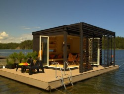 Solar-Powered Floating House by Kenjo - Sweden