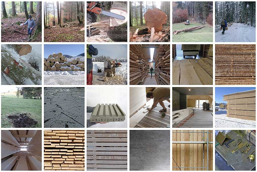 Haus am Moor - Vorarlberg, Austria - all timber was cut and milled on-site