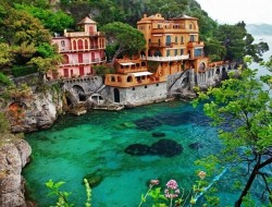 Living on the edge at Portofino, Liguria, Italy :-)