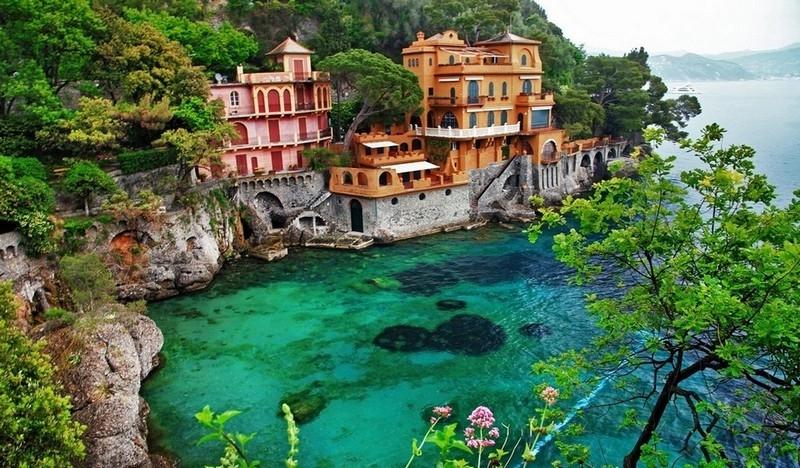 Living on the edge at Portofino, Liguria, Italy :-)