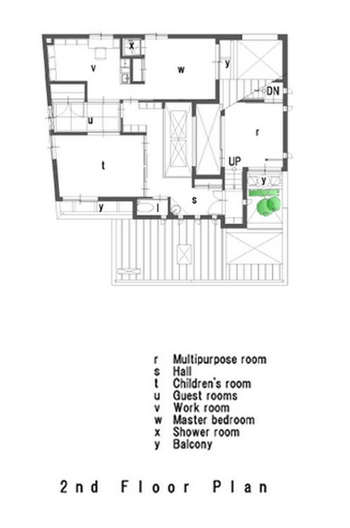 U3 House - Second floor plan