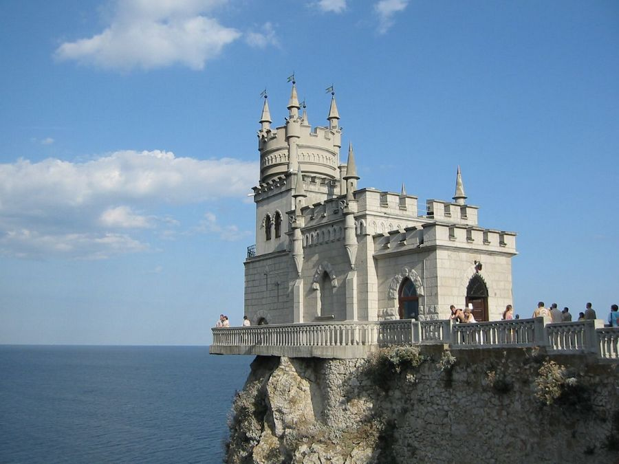 Living on the Edge - Yalta on the Crimean Peninsula in Southern Part of Ukraine