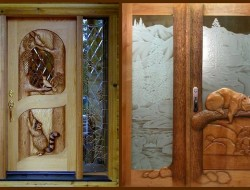 Let's play! Imagine either of these entry doors by Ron Ramsey was on your house. What sort of house would it be? Describe it for us.