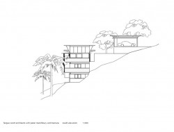 Cliff Face House - South Elevation