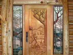 Deer and bear door by Ron Ramsey of Lake Tahoe