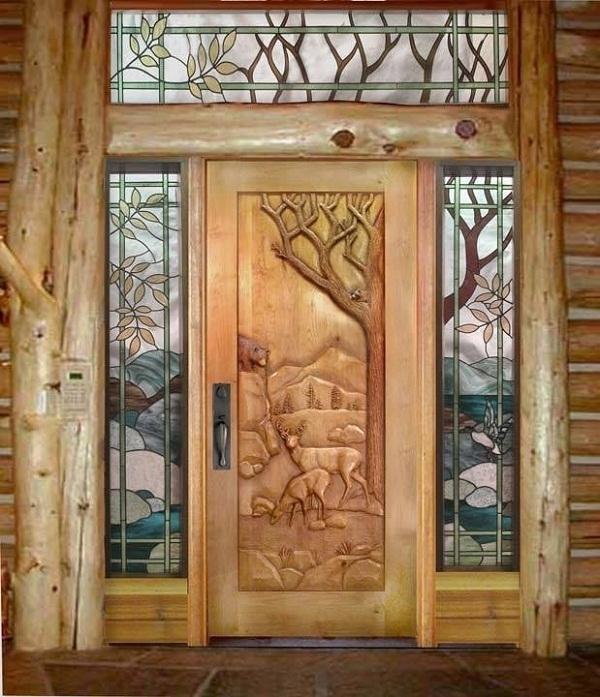 Deer and bear door by Ron Ramsey of Lake Tahoe