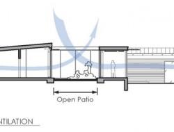 Tiburon House - Flows of Natural Ventilation