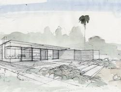 Tiburon House - Sketch