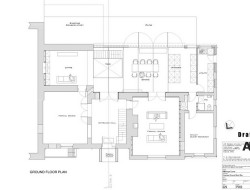 Traditional Brick House With Modern Glass Extension - Ground Floor Plan