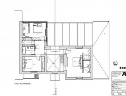Traditional Brick House With Modern Glass Extension - First Floor Plan