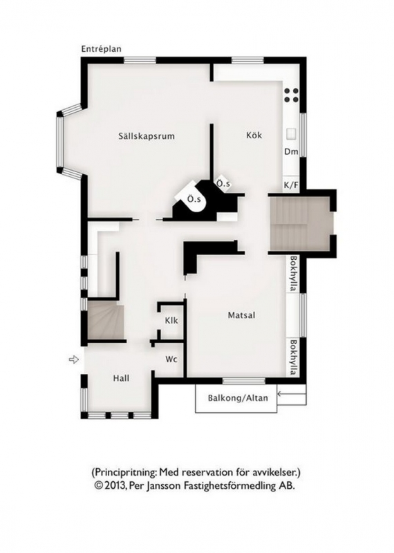 Villa Alfhem - Entreplan