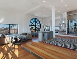 An Old Clock Tower Converted Into a Penthouse - Brooklyn, New York