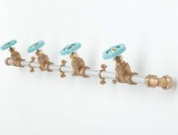Blue Coat Pipe Rack