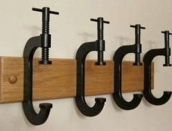 C Clamp Coat Rack