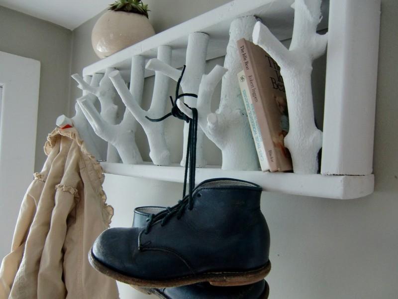 Unique White Modern Wall Coat Rack