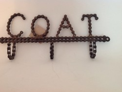Recycled Bike Chain Coat Hooks - Homewares - Recycled