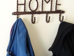 Recycled Bike Chain Home Coat Hooks