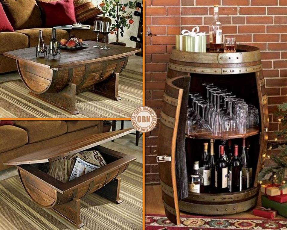 Recycled Wine Barrels