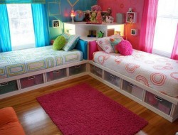 How cool is this bed with storage for kids?