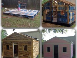 Now how's this for a cubby or garden shed? And it's made from recycled pallets!