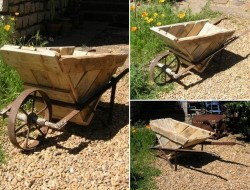 Why buy new wheelbarrow, when you can build one for free using pallets? Seriously, what a great garden ornament!  What do you think – trash or treasure?