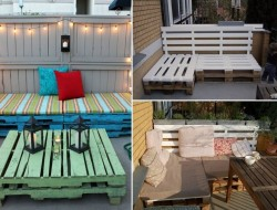Why buy new outdoor furniture, when you can build some for free using discarded pallets?