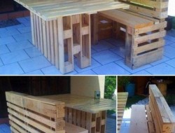 Why buy new furniture for your deck, when you can build one for free using pallets?