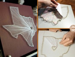 Why buy wall decor, when you can make one! Here's an idea that uses strings. Crafty or Tacky?