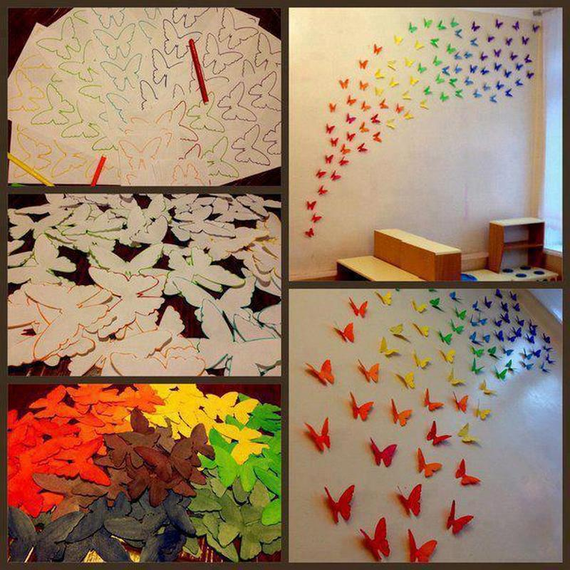 Here's a simple decorating idea you can do with the kids! Just fix them with Bluetac and you can remove them if and when they go past their 'use by date'.  What do you think?