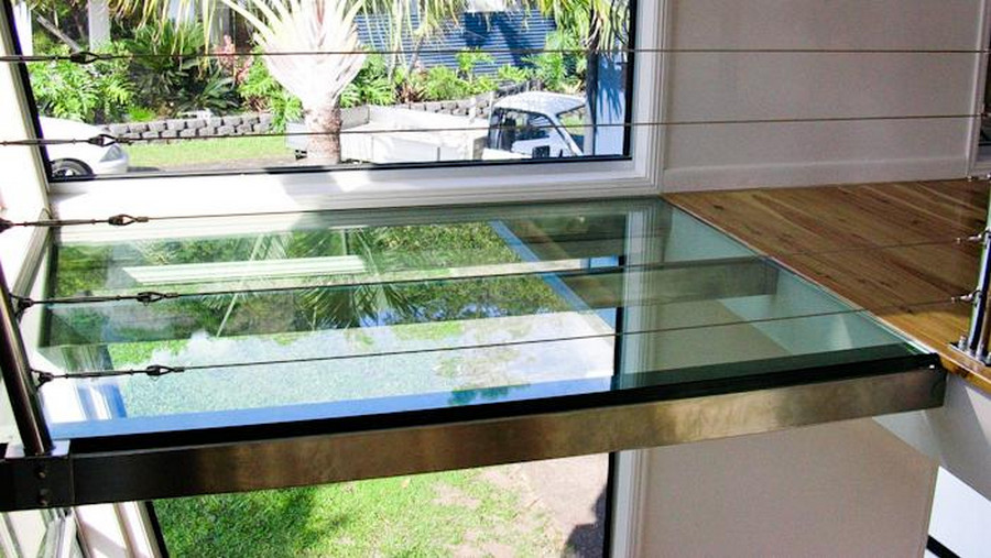 Floors every home has at least one the owner builder for Glass floors in houses