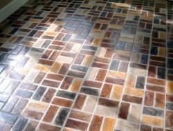 Kitchen Brick Floor Old Chicago Basketweave by Portstone