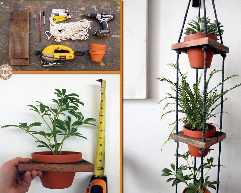 DIY Tiered Hanging Pots