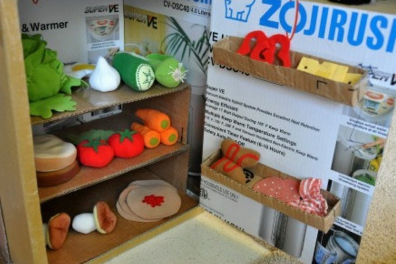 DIY Cardboard Play Kitchen - The Owner-Builder Network