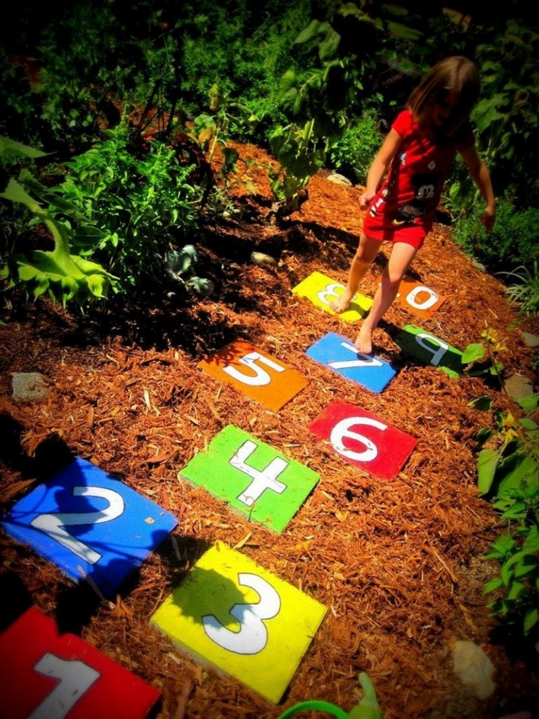 Hopscotch Stepping Stones - New Ideas For You