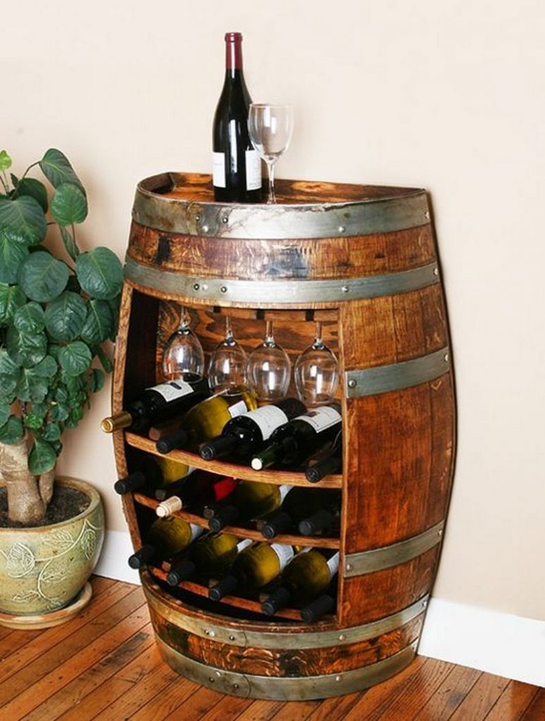wine the rack bottle wall barrel stave racks enthusiast p