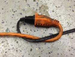 Tired of extension cords unplugging? Tie them together!
