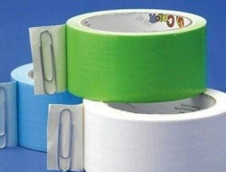 Use a paper clip to hold your spot on a roll of tape.