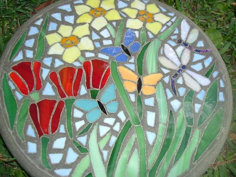 easy diy garden stepping stones decorative near me