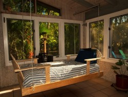 Screened Porch Swing Bed