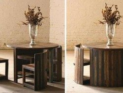 Space Saving Teak Table