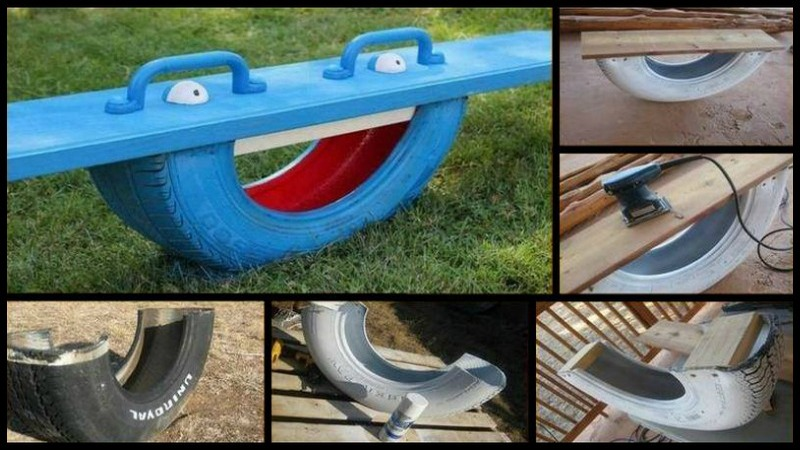 DIY Tire See Saw - The Owner-Builder Network