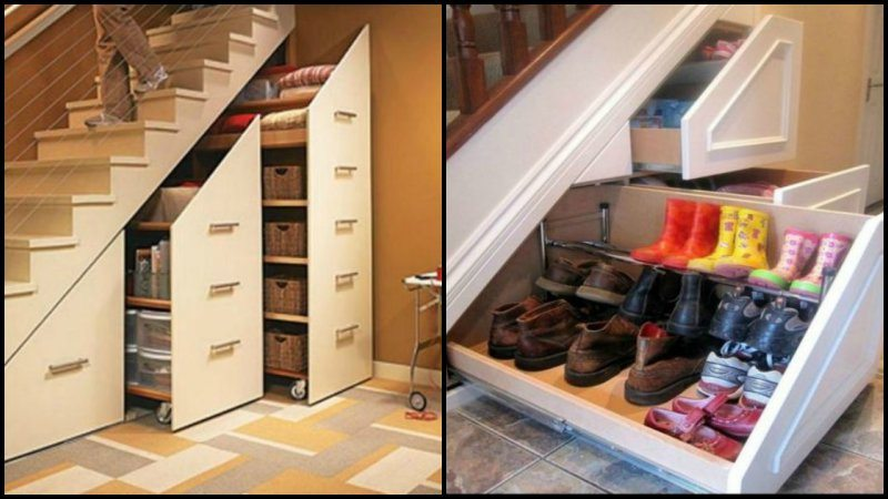 Nice Harry Potter Would Definitely Be Envious With The Way These Spaces Under The  Stairs Are Used.