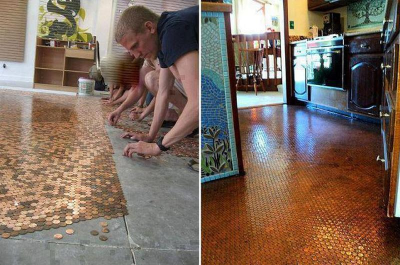 Fan Denice McNeill sent us this image. All it takes is a lot of patience and a very good bonding agent - and, of course, an awful lot of coins. Thank you Denice!